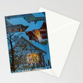 Un village à la montagne Stationery Cards