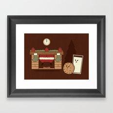 Santa's Coming Framed Art Print