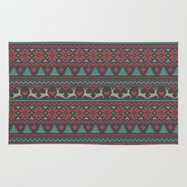 Christmas Tricot - Multicolored Rug