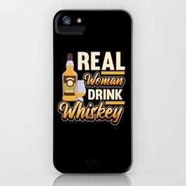 Funny Whiskey Scotch Bourbon Saying Gift iPhone Case