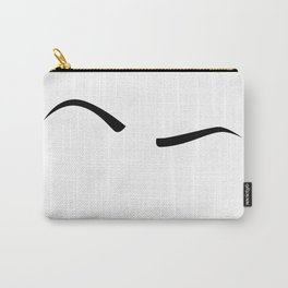 Raised Eyebrow - Black Carry-All Pouch