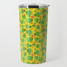Cactus Me Outside (Yellow) Travel Mug