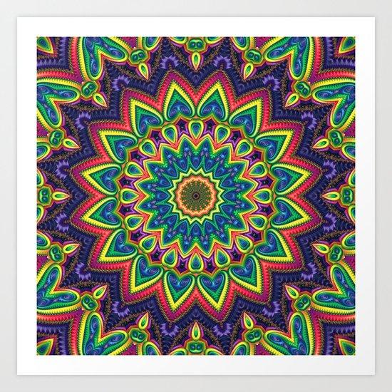 Colorful K Art Print