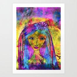 Heliya - The gypsy Queen Art Print