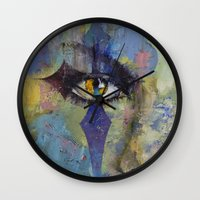 gothic Wall Clocks featuring Gothic Art by Michael Creese