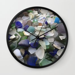 Sea Glass Assortment 5 Wall Clock