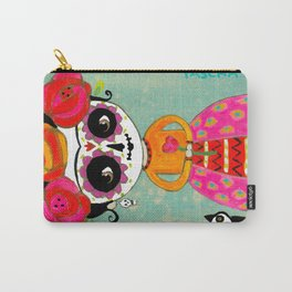 Day Of The Dead Frida with Black Cat Carry-All Pouch