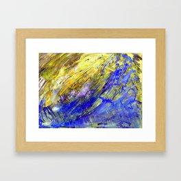 Nature aqua Framed Art Print