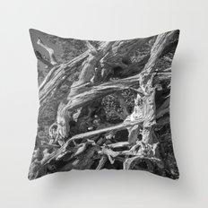 Abstract drift wood Throw Pillow