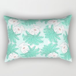 Fern-tastic Girls in Teal Rectangular Pillow