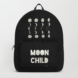Moon Phases on Black Sky Backpack
