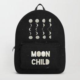 Moon Phases, Black White Decor, Bohemian, Magic, Lunar Cycle Backpack