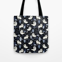 Ghost Cats in the Cemetery Tote Bag