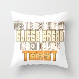 Sliced Bread Throw Pillow