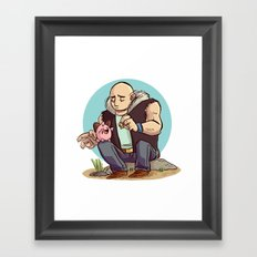 Roughneck Kirby Framed Art Print