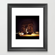L'Arc de Triomphe  Framed Art Print