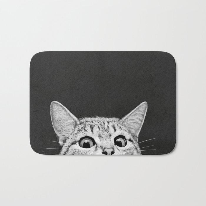 Bath Mats Society - Black and white tribal bath mat for bathroom decorating ideas