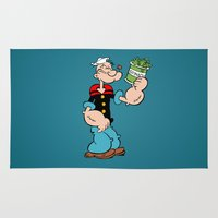 popeye Area & Throw Rugs featuring Popeye the Sailor Man by CromMorc