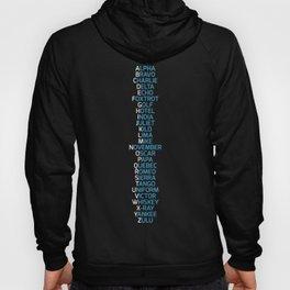Phonetic Alphabet Navy Blue Hoody