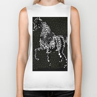 horse Biker Tanks featuring Horse  by Saundra Myles