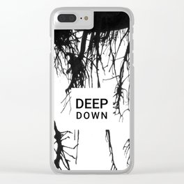 Deep down Clear iPhone Case