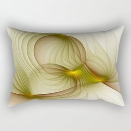 Precious Metal, Abstract Fractal Art Rectangular Pillow