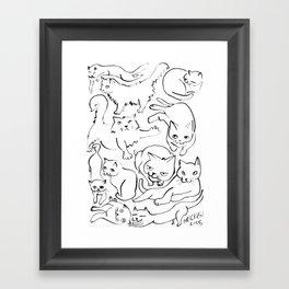 Cat Society Framed Art Print