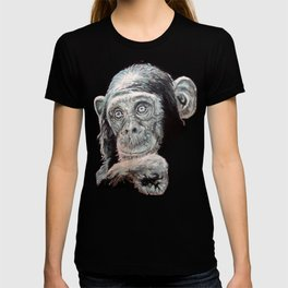 a Jane Goodall quote - black T-shirt