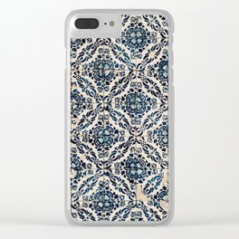 Azulejo IX - Portuguese hand painted tiles Clear iPhone Case