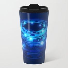 Abstraktion in Blau Travel Mug