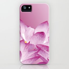Lotos Flowers Pink iPhone Case