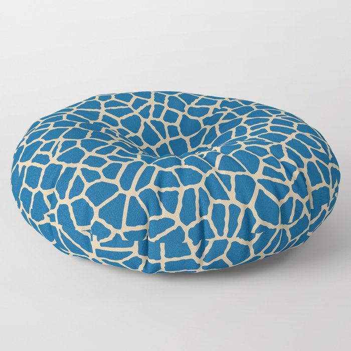 staklo (dark blue with coffee) Floor Pillow