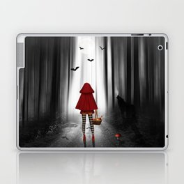 Little Red Riding Hood and the wolf Laptop & iPad Skin