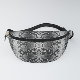 Snake Silver Print Fanny Pack