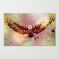 eagle Canvas Prints featuring Eagle by ron ashkenazi