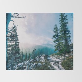 Overlook the Wilderness Throw Blanket