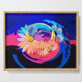 Flowers pop art Serving Tray