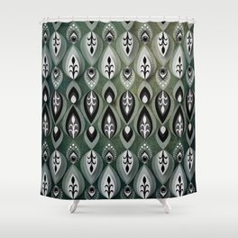 Pierrot II/Memoir Pattern Shower Curtain