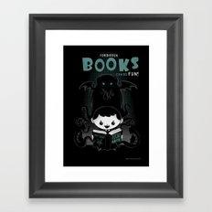 Forbidden books can be fun! Framed Art Print