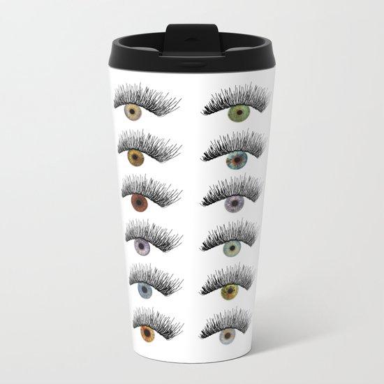 Hypnotic Eyes Metal Travel Mug