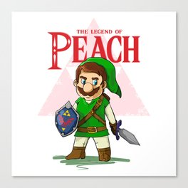the legend of Peach Canvas Print