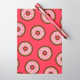 Pink Donut Pattern Wrapping Paper