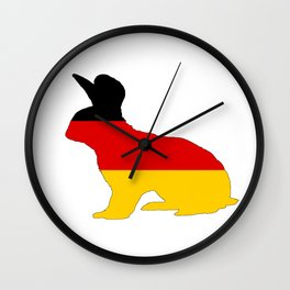 German Flag - Rabbit Wall Clock