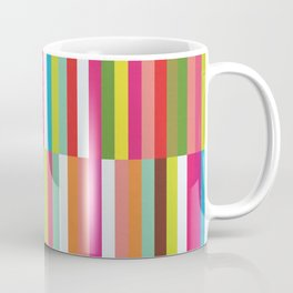 Bright Colorful Stripes Pattern - Pink, Green, Summer Spring Abstract Design by Coffee Mug