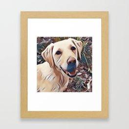 Yellow Labrador Retriever Framed Art Print