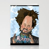 aliens Stationery Cards featuring Aliens by Slightly Absurd