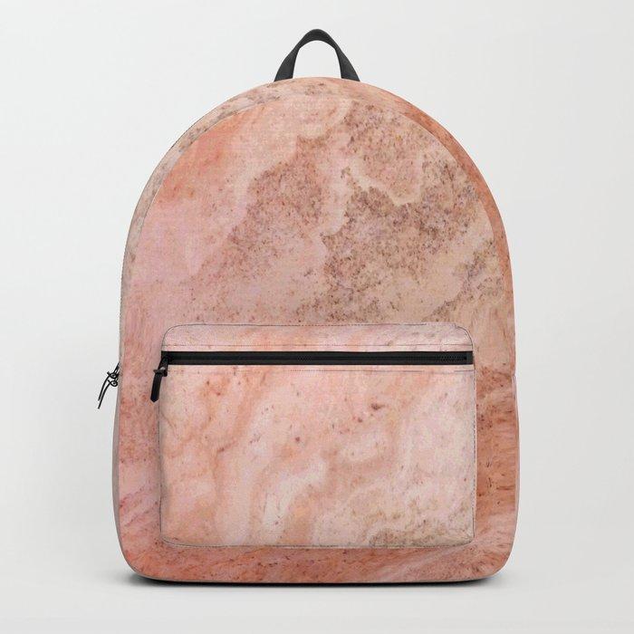 Polished Rose Gold Marble Backpack