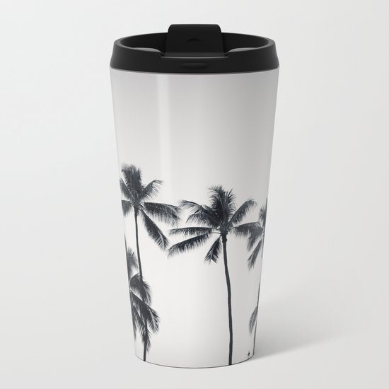 palmtreeeeeee ver.black Metal Travel Mug