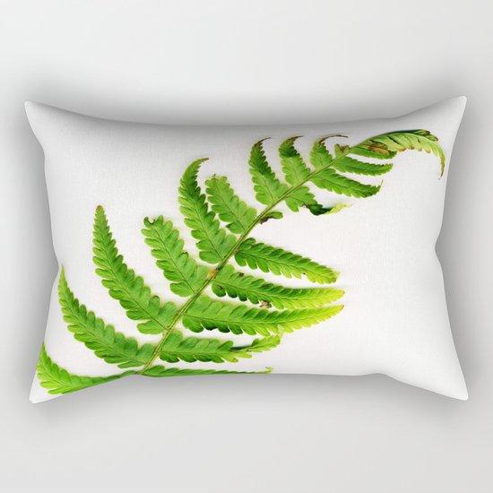 Fern on white Rectangular Pillow