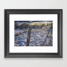 Morning Frost in Alberta Framed Art Print